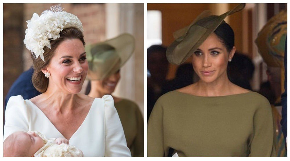 2cb69ce21 Meghan Markle and Kate Middleton wear their Sunday best for the christening  of  PrinceLouis and the Sussex Cambridge foursome looks like a  well-coordinated ...