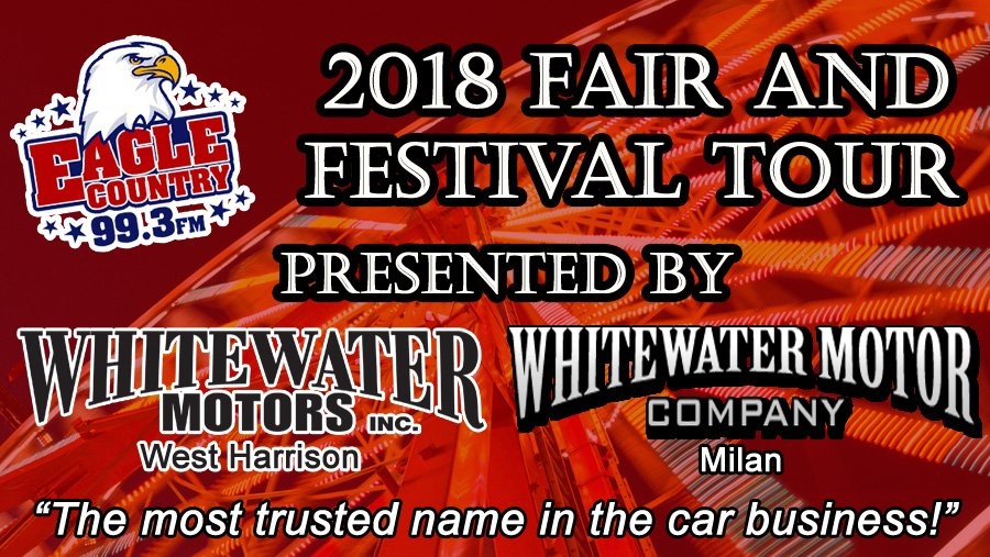 Our festival tour is presented by Whitewater Motors in West Harrison and Milan. https://www.eaglecountryonline.com/community/2018-fair-and-festival-tour/ ...