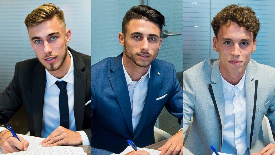 Oscar Mingueza, Jandro Orellana et Guillem Jaime