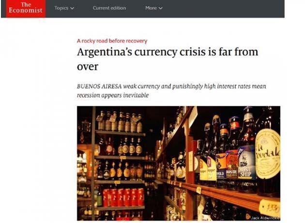 The Economist advierte que la crisis cambiaria en la Argentina está lejos de terminar Foto