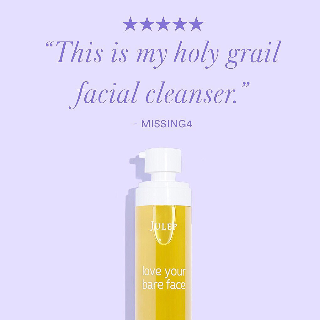 'This is my holy grail facial cleanser. I keep repurchasing because it's the only thing that removes all of my makeup and doesn't irritate or dry out my skin. HIGHLY recommend!' - Missing4 💜 #BravePretty #OilCleanser #DoubleCleanse