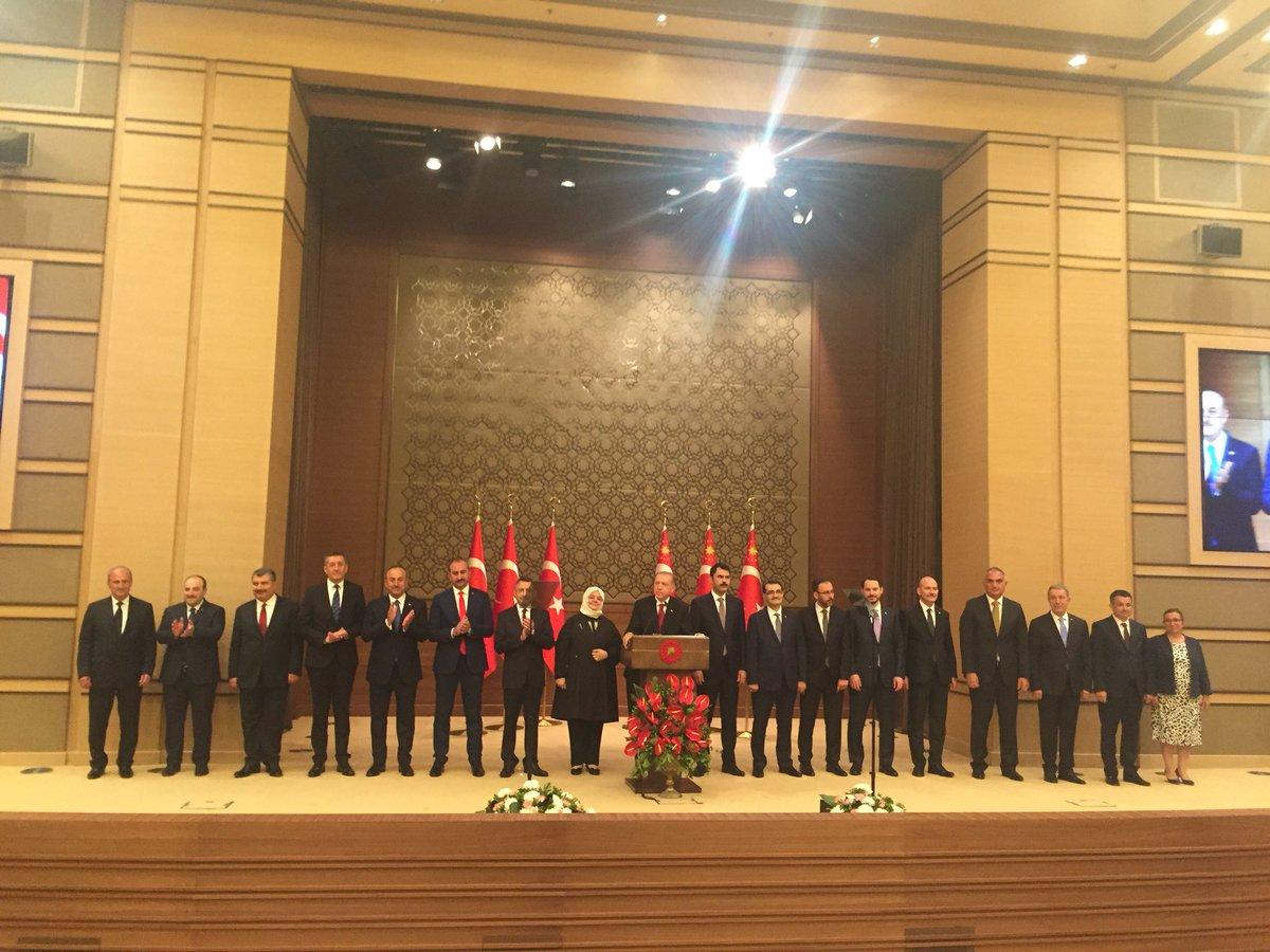 Cumhurbaşkanı Erdoğan ve yeni hükümet...
