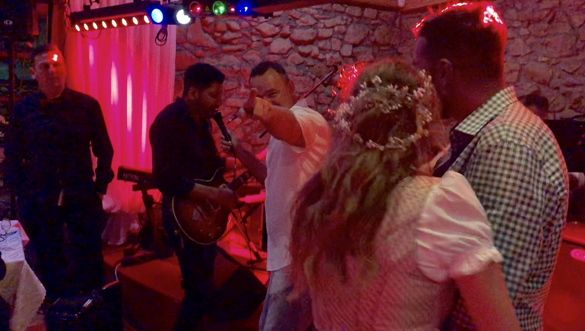 Epic wedding in Poland on the weekend. The bride and groom invited me up to perform for everyone haha: Ripped out some Iron Maiden and Guns n' Roses before singing some Rolling Stones!