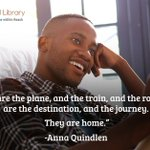"""Books are the plane, and the train, and the road. They are the destination, and the journey. They are home."" - Anna Quindlen #motivaltionalquote"