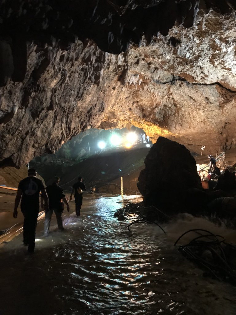 Just returned from Cave 3. Mini-sub is ready if needed. It is made of rocket parts & named Wild Boar after kids' soccer team. Leaving here in case it may be useful in the future. Thailand is so beautiful.