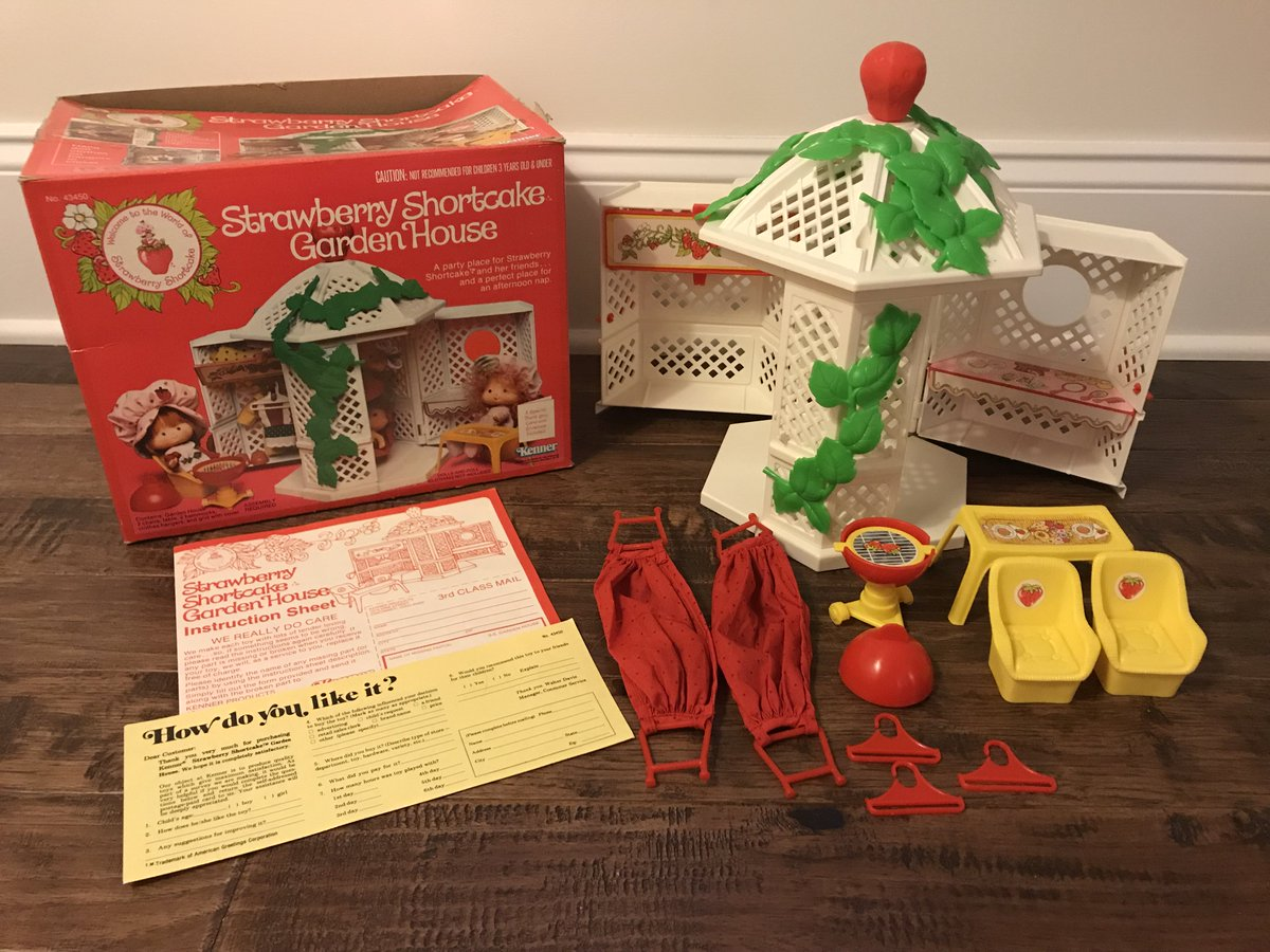 Turn Back The Clock Toys On Twitter 1981 Vintage Kenner Strawberry Shortcake Garden House Playset Accessories Just Added To Store Kennertoys Strawberryshortcake Strawberryshortakegardenhouse Gardenhouse Chairs Hammock Table