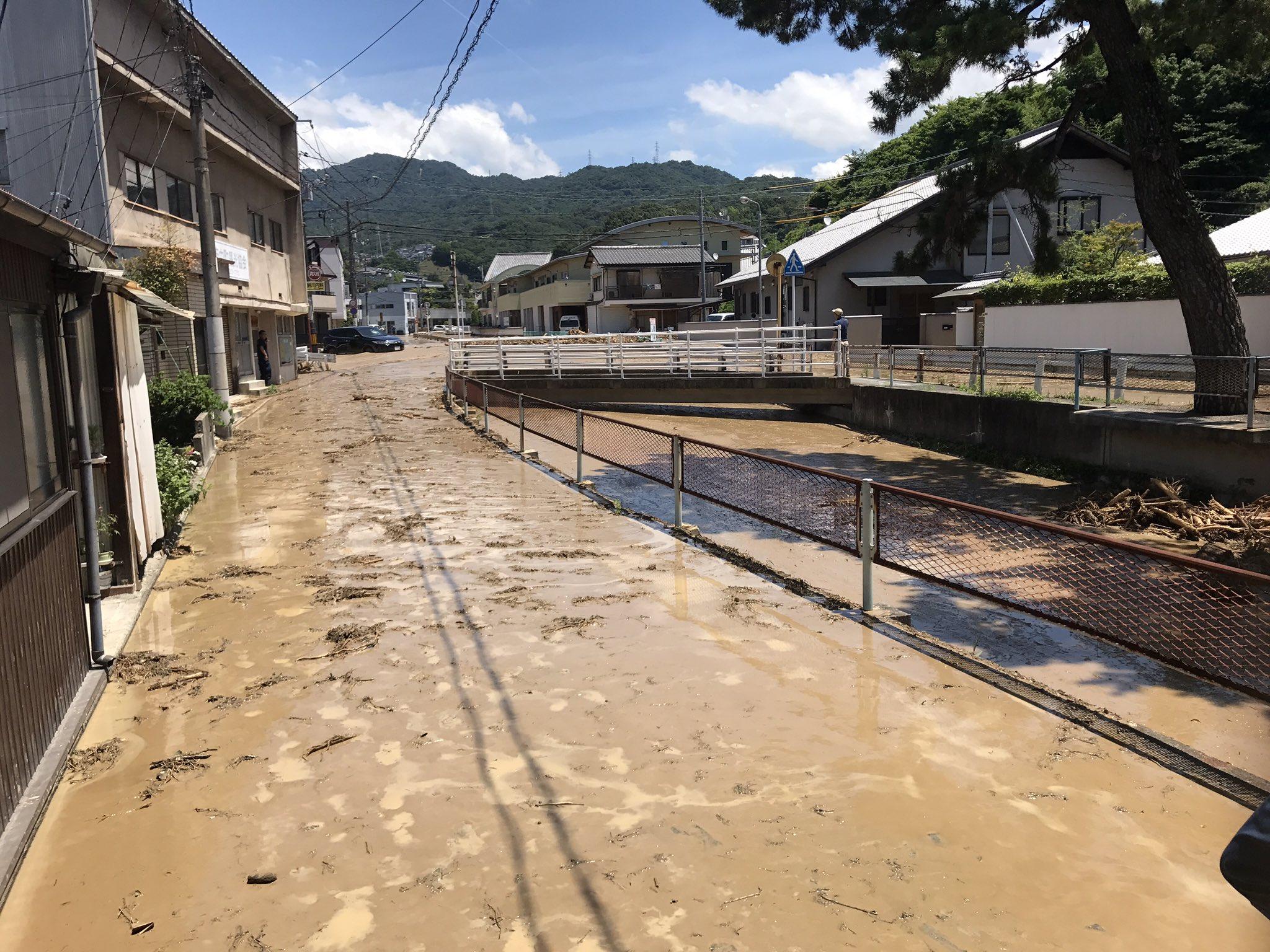 画像,近所の榎川が決壊したんじゃけど?? https://t.co/ayZmIMUYWV。