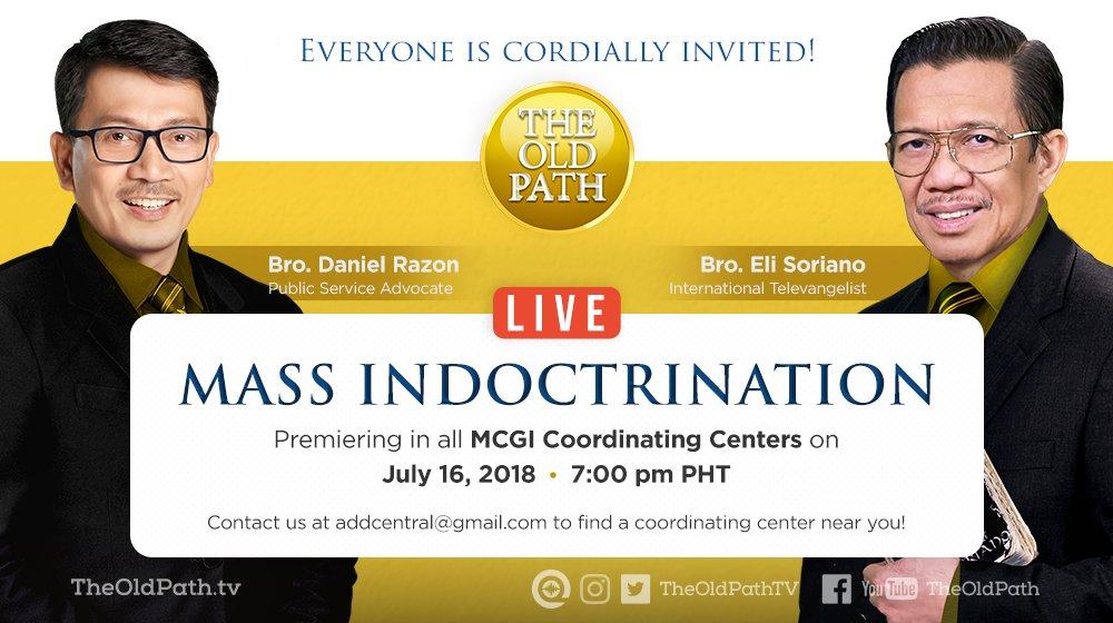ang dating daan mass indoctrination invitation