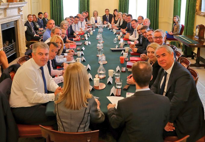 The Cabinet in Downing Street this morning.