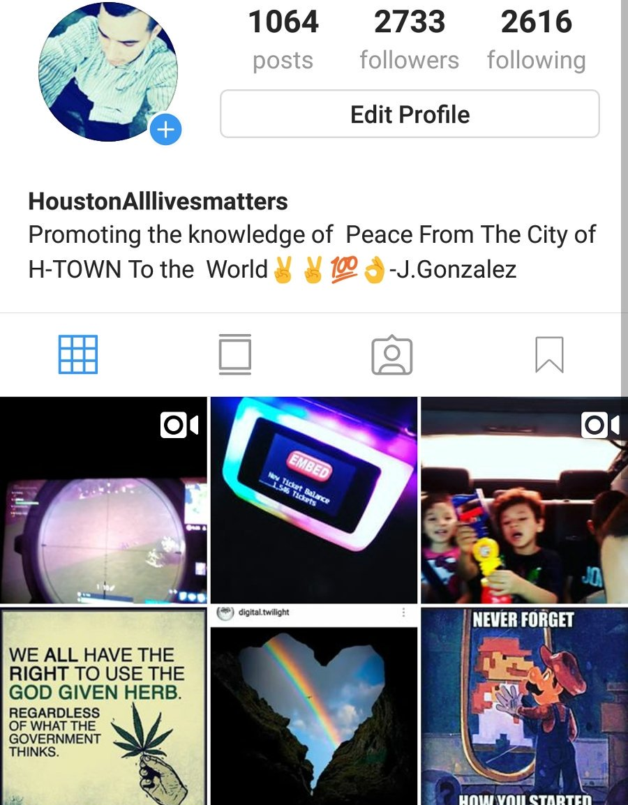 Follow me Instagram houstonAlllivesmatters     <br>http://pic.twitter.com/zvqHTPdo7f