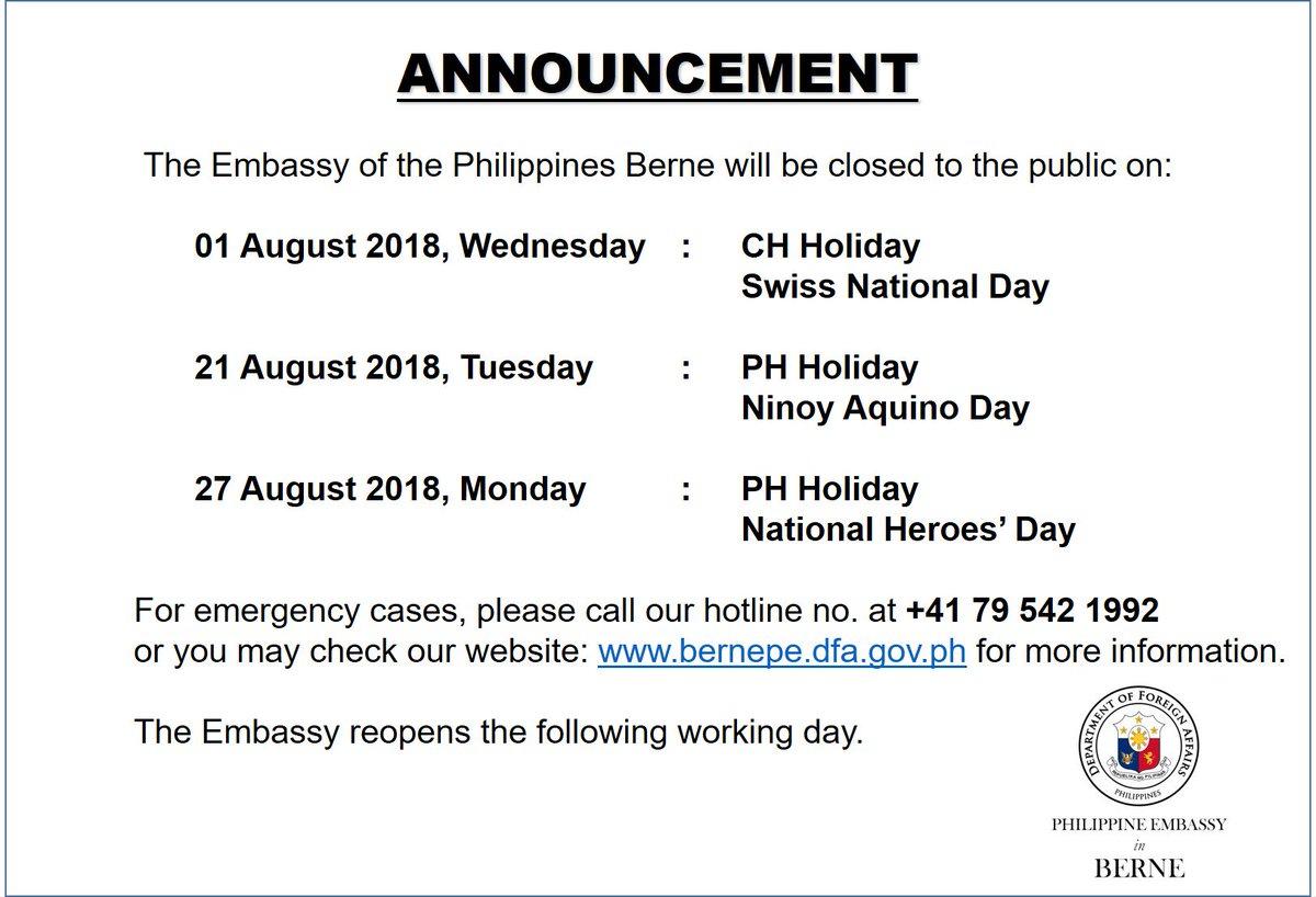 Philippine Embassy in Switzerland (@PHinSwitzerland)   Twitter