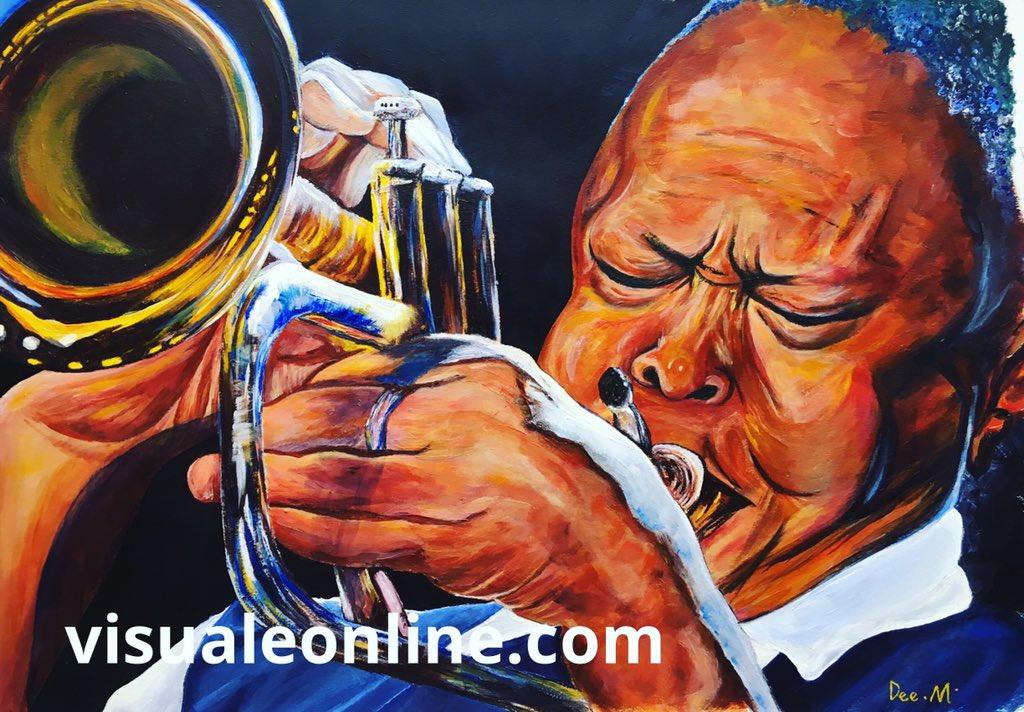 Watch how my painting of Mr Jazz Man Hugh Masekela developed on our YouTube Channel  https://m.youtube.com/watch?v=TekUIn6w1qg… #workinprogress #painting #HughMasekela #singer #JazzPioneer #Trumpeter #freedomfighter #Africianartist #icon musician #artist #deemanning #portrait #Birmingham