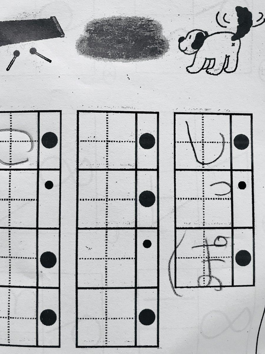 やべえ…息子の宿題が全くわからない… このボヤボヤした塊は何!? 4文字で、3文字目が小文字の… これは一体何!!?