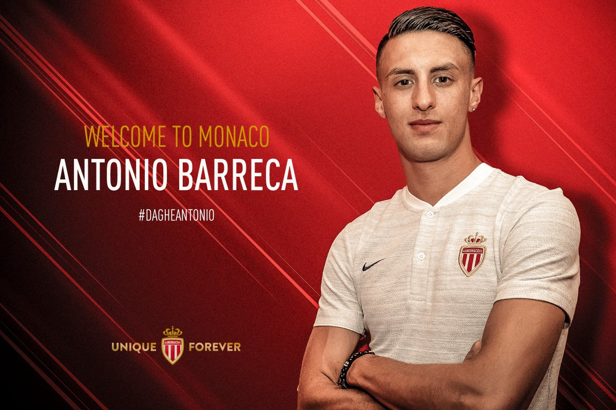 Maillot Domicile AS Monaco Antonio BARRECA