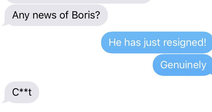 A cabinet minister responds to the Boris news #ThisIsNotNormal