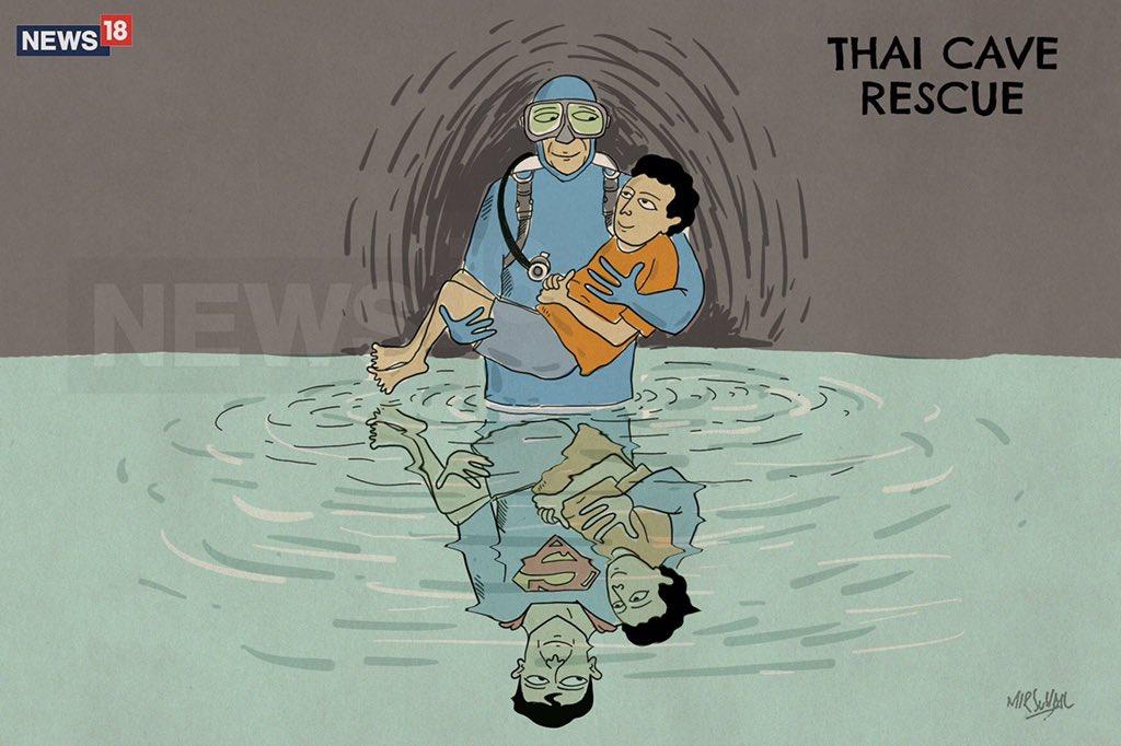 Superman is The Real Man   #thaicaverescue #พาทีมหมูป่ากลับบ้าน <br>http://pic.twitter.com/6R6UqZTrQb