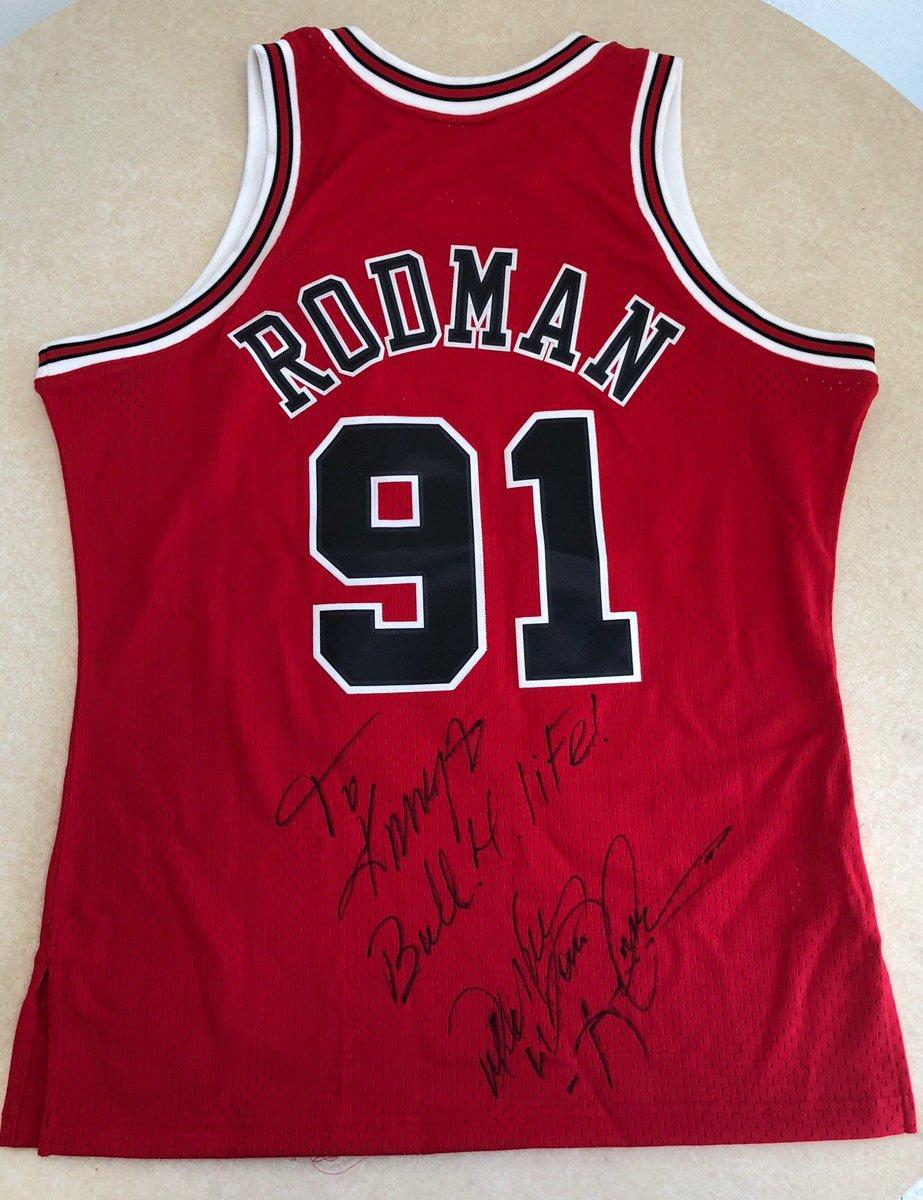 wholesale dealer ee1ba 568dc Dennis Rodman : signed jersey Dennis Rodman kanyewest ...