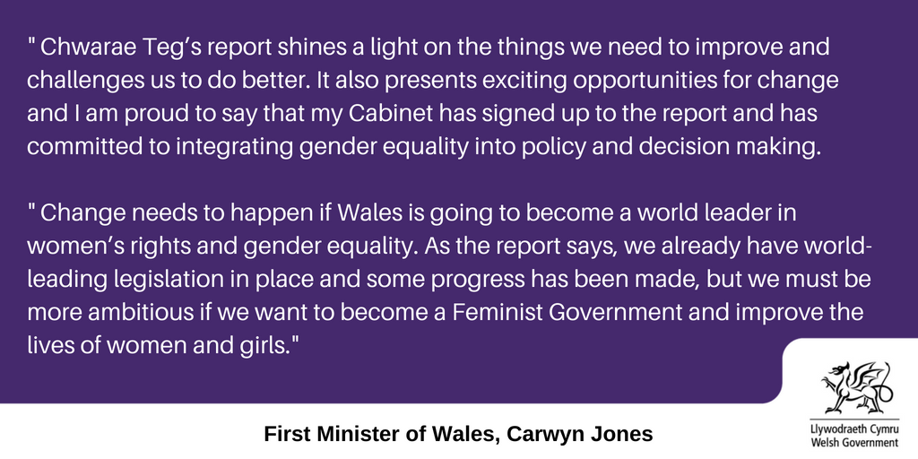 The @chwaraeteg @WCfPP  review into the @WelshGovernment's gender equality policies challenges us to do better and presents exciting opportunities for change. @womensday #genderequality  Find out more here:  http:// ow.ly/yIt430kSBb9  &nbsp;    http:// ow.ly/epE730kSBbw  &nbsp;  <br>http://pic.twitter.com/8QvJQz7Rg2