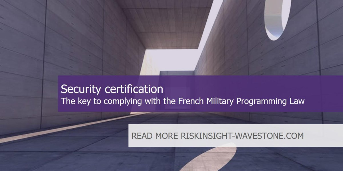 Riskinsight On Twitter Security Certification The Key To