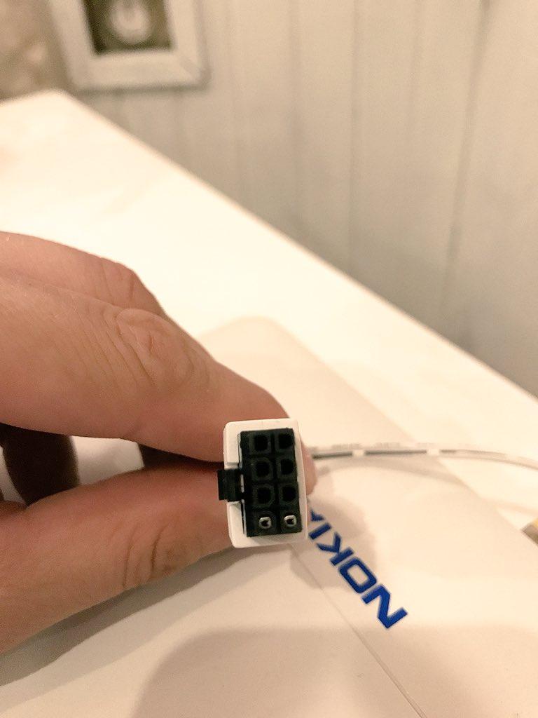 Napájecí konektor na CPE ALU/Nokia