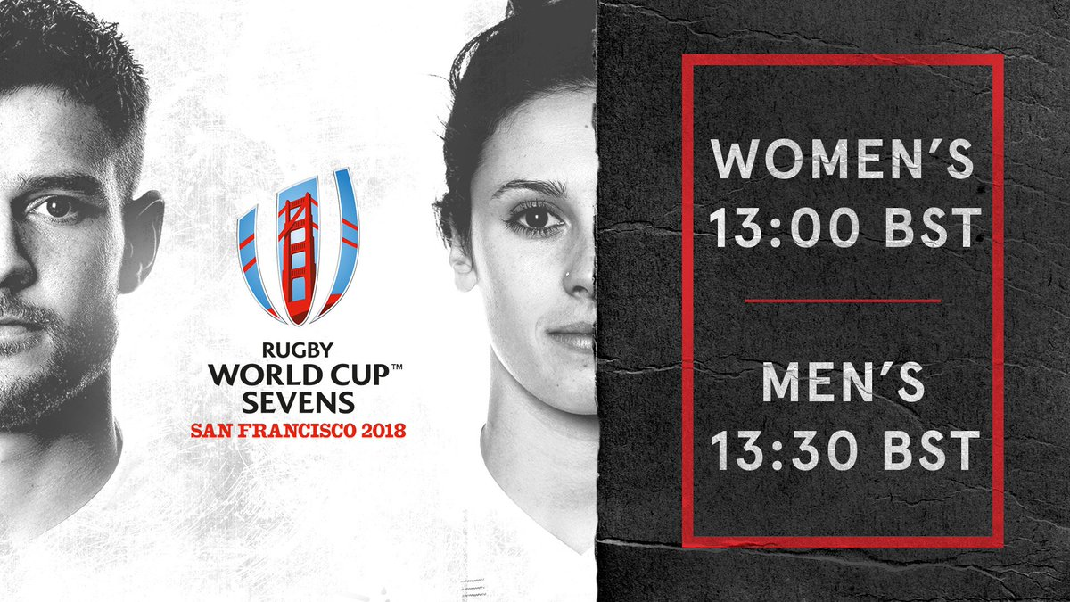 Wholl be on the plane to #SanFrancisco for the #RWC7s? 🇺🇸 Well be announcing the #England7s Womens squad at 13:00 BST, followed by the Mens squad at 13:30 BST. Watch this space 🌹