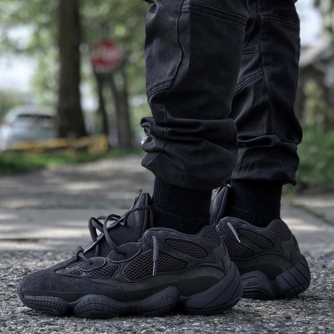 "60699c5c90e65 Us sizes 9-11 of the  adidas yeezy 500 ""utility black"" just restocked on yeezy  supply  - scoopnest.com"