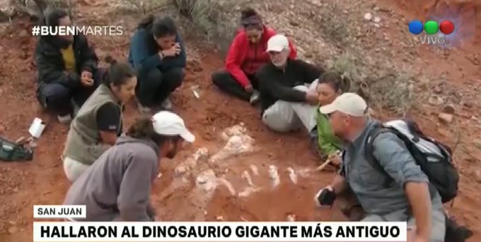 #BuenMartes Encontraron al dinosaurio gigante más antiguo en San Juan Foto