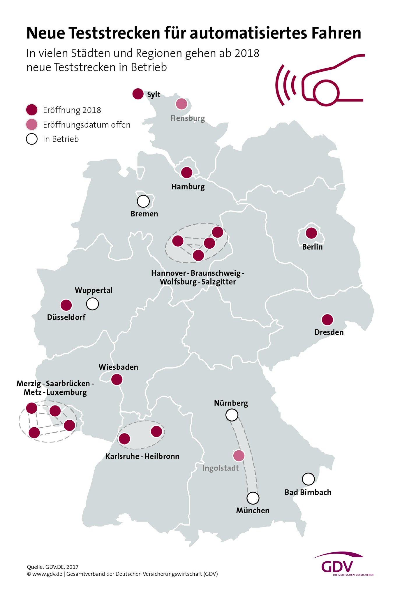 Testgebiete Deutschland.
