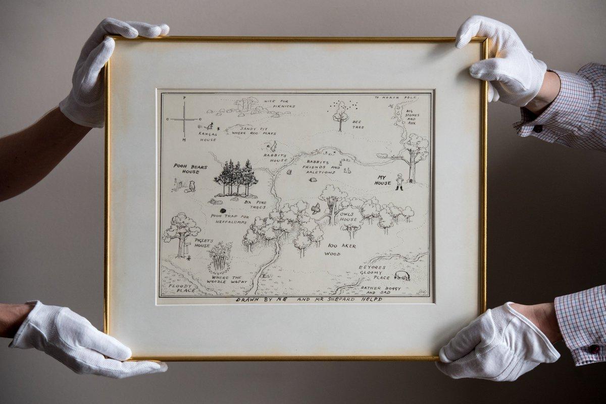 Gokil! Ilustrasi Peta Asli Winnie The Pooh Terjual Seharga Rp 8 Miliar