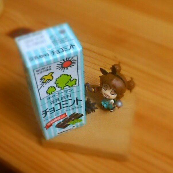 ひさびさの…豆乳飲料チョコミントあじっ♪