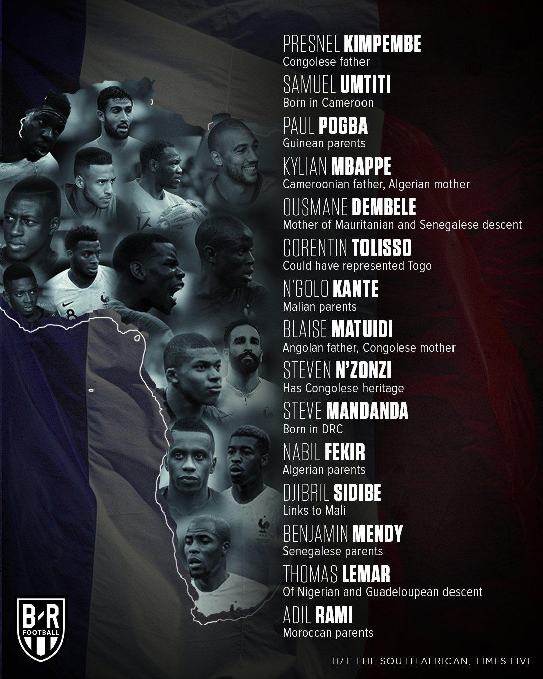 15 Pemain Prancis keturunan Afrika