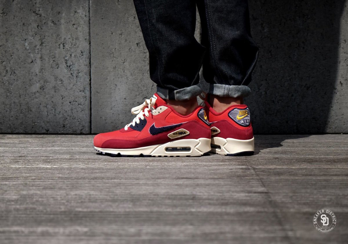 finest selection 7d15a 8ff88 ... official the sole supplier on twitter nike air max 90 premium se  university red. full