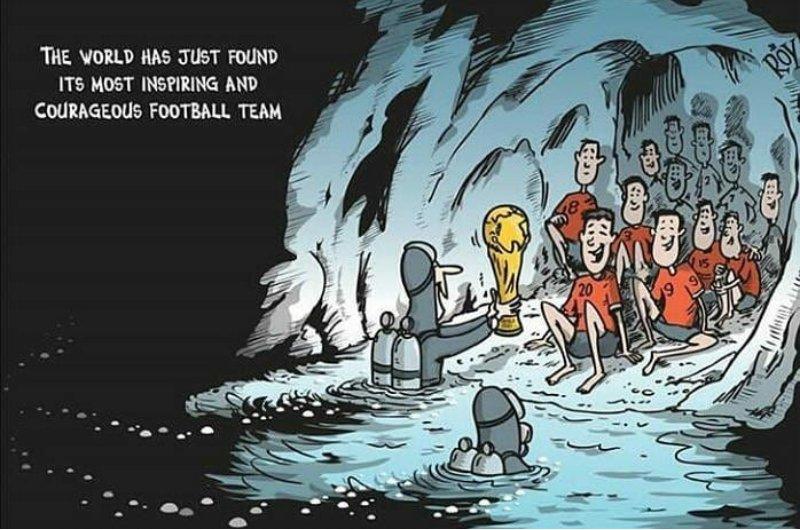 """Resultado de imagem para """"O mundo acaba de encontrar seu time de futebol mais inspirador e corajoso"""""""