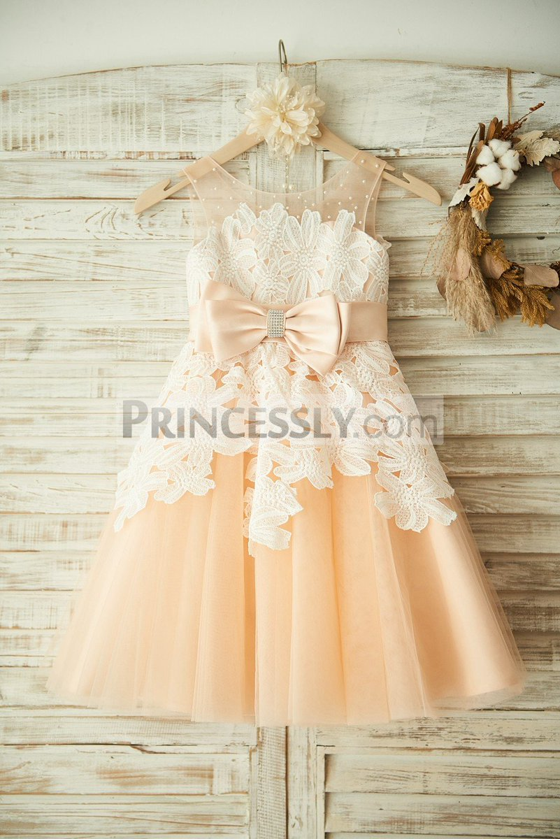 Princessly dresses on twitter champagne tulle beaded ivory lace princessly dresses on twitter champagne tulle beaded ivory lace wedding flower girl dress princess party dress sku k1003353 buy now izmirmasajfo