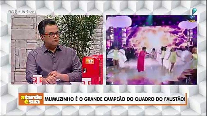 Mumuzinho é o grande campeão do quadro do Faustão! #AtardeESua Foto