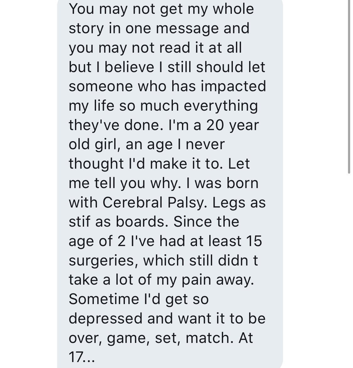 This dm to me right here is exactly why I do this, made me smile so big. https://t.co/VeJp3vtElb