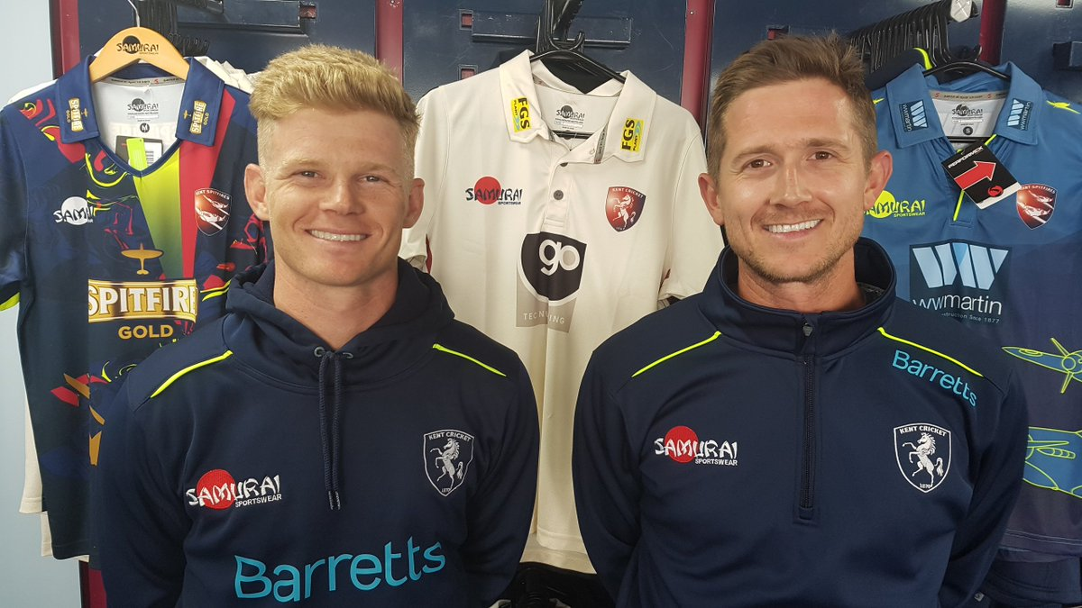 Sam Billings and Joe Denly. (Kent Official Twitter Handle )