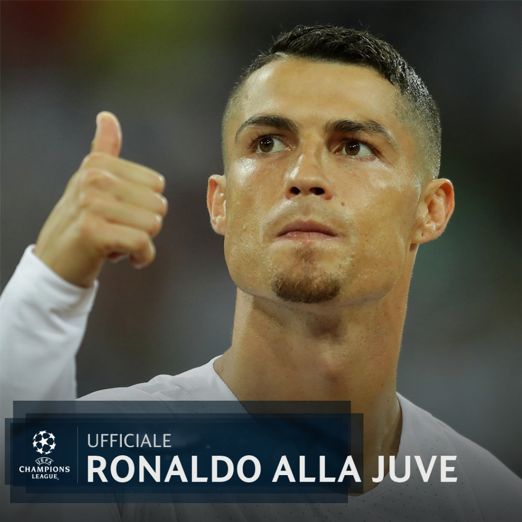 📋 UFFICIALE - @Cristiano #Ronaldo è un nuovo giocatore della @juventusfc ⚪️⚫️  #UCL