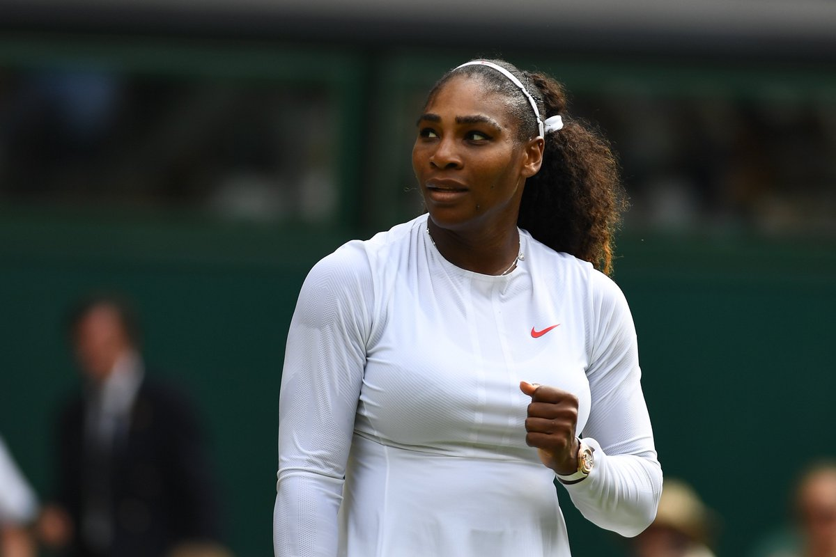 SERENA IS MOVING ON!  #25 Serena Williams comes back to beat Camila Giorgi 3-6, 6-3, 6-4 and advance to the semifinals. #Wimbledon <br>http://pic.twitter.com/wn749gZyFx