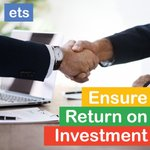Image for the Tweet beginning: Looking to increase your ROI?  ets