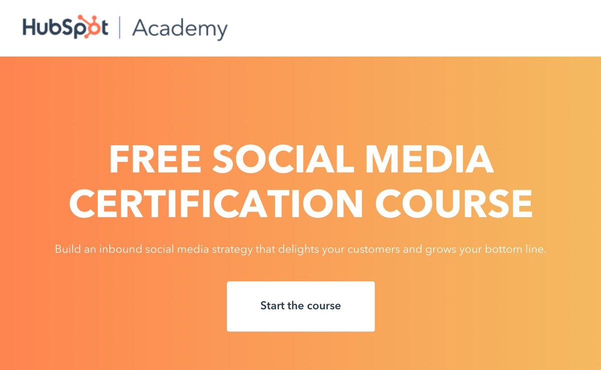 Hubspot Academy Social Media Certification Launch