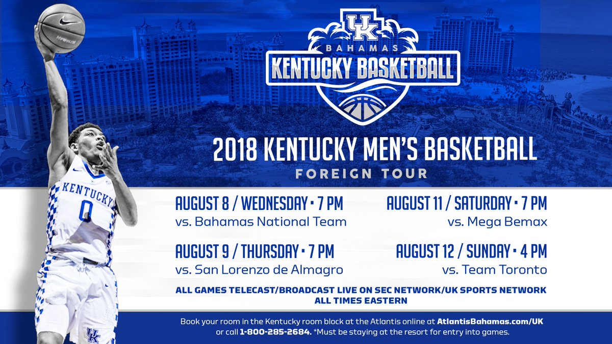 UK announces game info for Big Blue Bahamas trip | Kentucky Sports Radio
