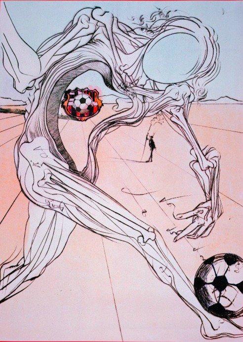 Intermède culturel. #foot #painting Salvador Dali : Footballeur (1980) Picasso : Footballeurs (1961) René Magritte : Représentation (1962) <br>http://pic.twitter.com/TdbQ6S6ssv