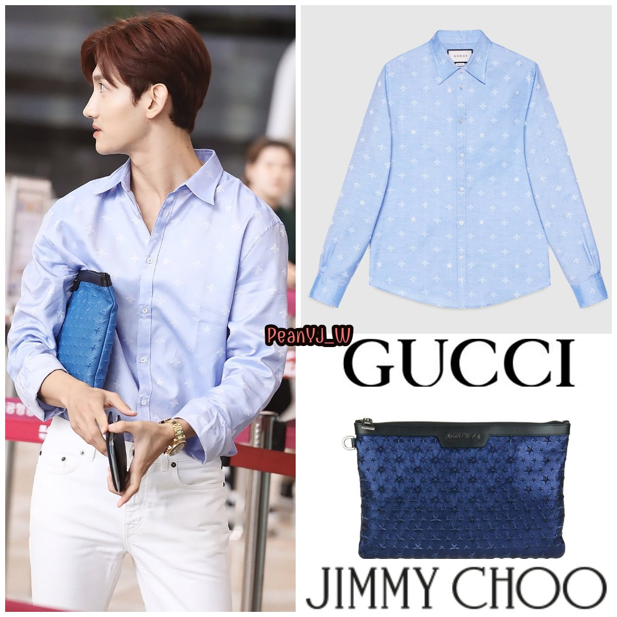 7cba5504 ... GUCCI Bee jacquard oxford Duke shirt Save for later $ 780 . JIMMY CHOO  Derek Clutch ~$ 1,000  https://www.instagram.com/p/BlDuULzgwFc/?taken-by=sw5ag_ …