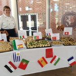 Thank you to Kathy and her team for the fantastic World Cup tasting table at lunch today. The children tried Portuguese Bacalhau, Swiss potato rosti, Moroccan couscous, Tuna Nicoise salad, German pretzels, gazpacho, Mexican quesadillas and Icelandic marriage cake @longacre_school