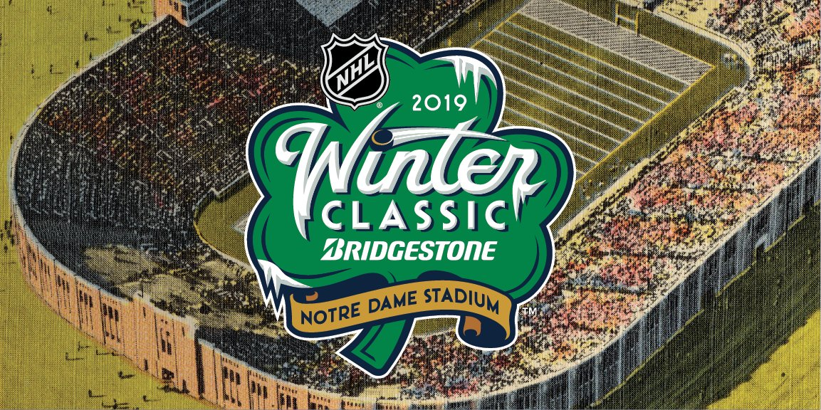 d21cd0caf ... for the 2019 Bridgestone NHL Winter Classic celebrating the Blackhawks  hosting of the Bruins at Notre Dame Stadium on New Year s Day.pic.twitter.com   ...