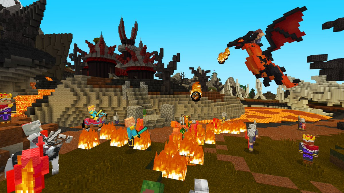Minecraft On Twitter Castles And Dragons By At Noxcrew Live As