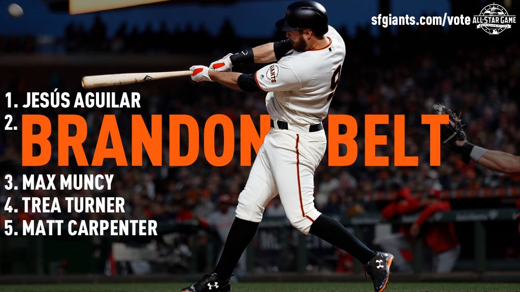 REMINDER: voting is UNLIMITED!  #BeltTheBallot all day, every day: https://t.co/51LAfiAPUQ   #SFGiants https://t.co/KgxhtttWDT