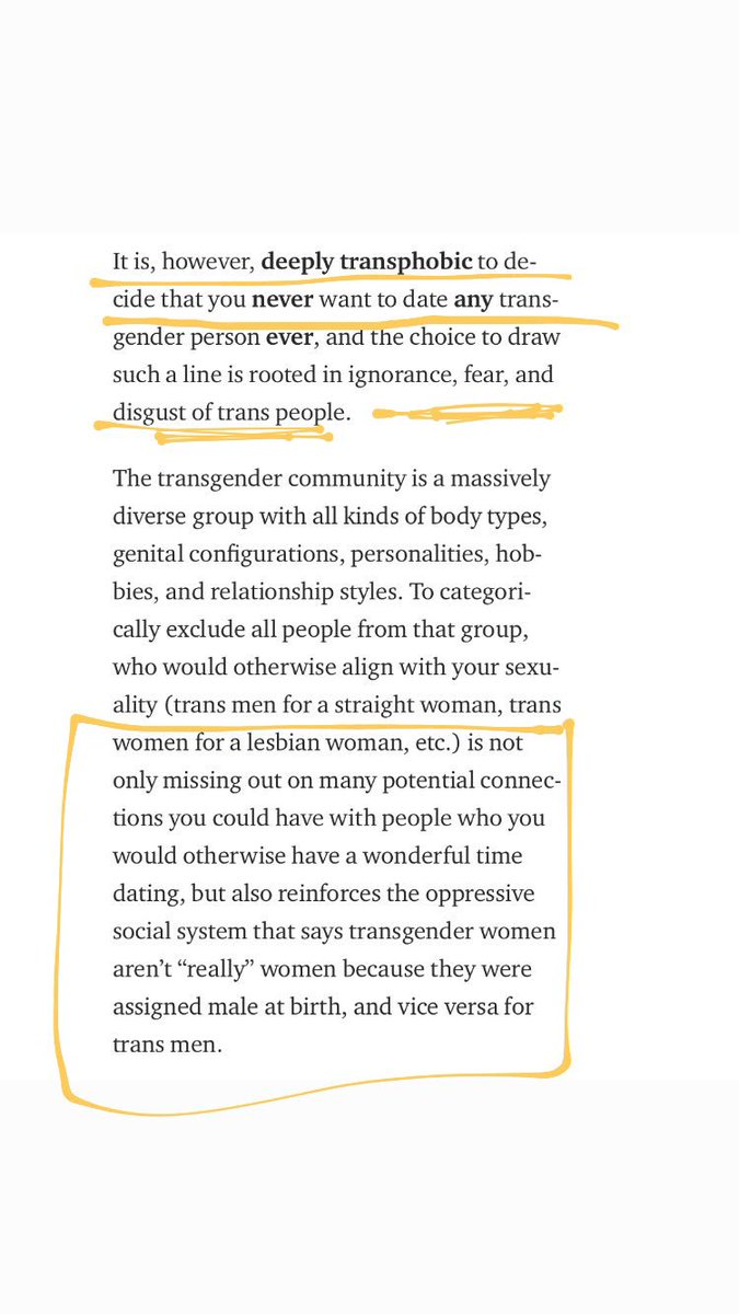 ... false notion that only certain people can have certain genitals (in  this case a lesbian wanting vagina bc of the notion that girls have  vaginas) which ...