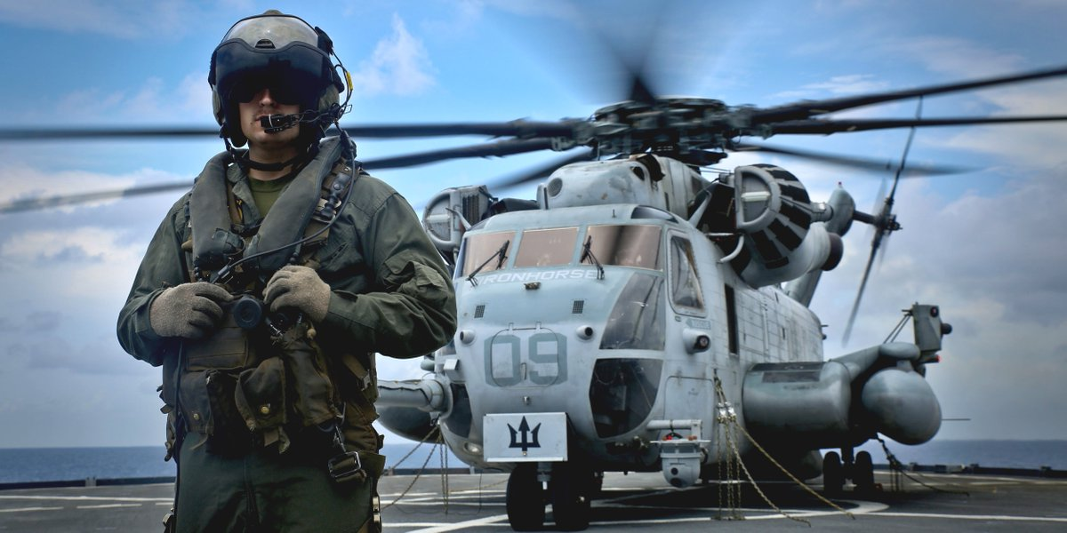 test Twitter Media - Saddle Up!  Cpl. Gage Weber, a CH-53E Super Stallion helicopter crew chief with Special Purpose Marine Air-Ground Task Force - Southern Command, prepares to board passengers during flight operations aboard the @USSGunstonHall off the coast of Belize. https://t.co/aFQyVWMsLO